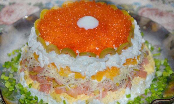 Рецепты салатов с икрой с фото